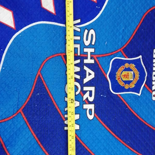 Manchester United 1996 1997 third GK padded shirt size Y (12)