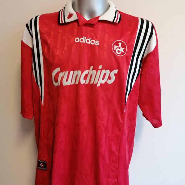 Vintage 1FC Kaiserslautern 1996 1997 1998 home shirt Adidas #6 Brehme size XXL (2)