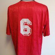 Vintage 1FC Kaiserslautern 1996 1997 1998 home shirt Adidas #6 Brehme size XXL (4)
