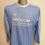 Vintage Adidas 1980ies blue football shirt #4 size L made in Yugoslavia (1)