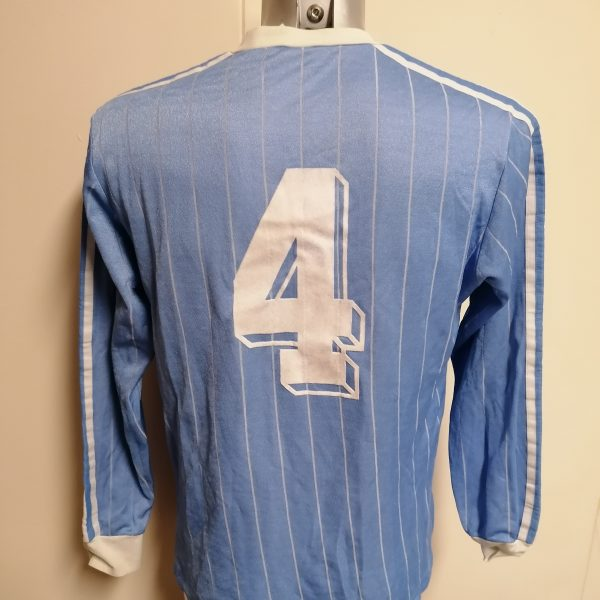 Vintage Adidas 1980ies blue football shirt #4 size L made in Yugoslavia (4)