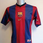 Vintage Barcelona 1998-00 home shirt Nike football top Litmanen 10 size S (2)