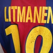 Vintage Barcelona 1998-00 home shirt Nike football top Litmanen 10 size S (4)
