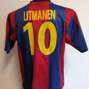 Vintage Barcelona 1998-00 home shirt Nike football top Litmanen 10 size S (5)