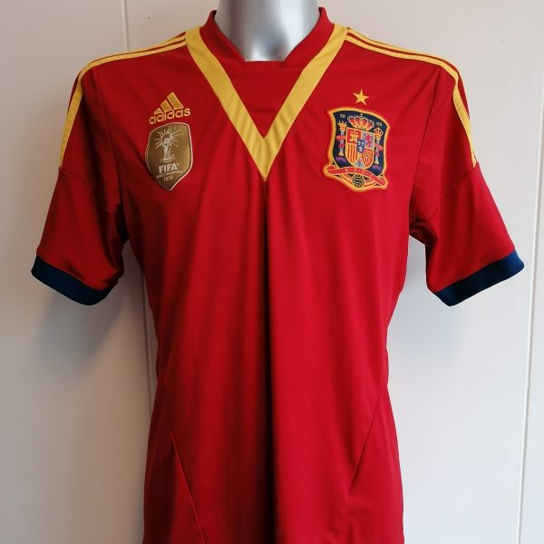 Vintage Spain 2012 2013 home football shirt adidas jersey size L (1)