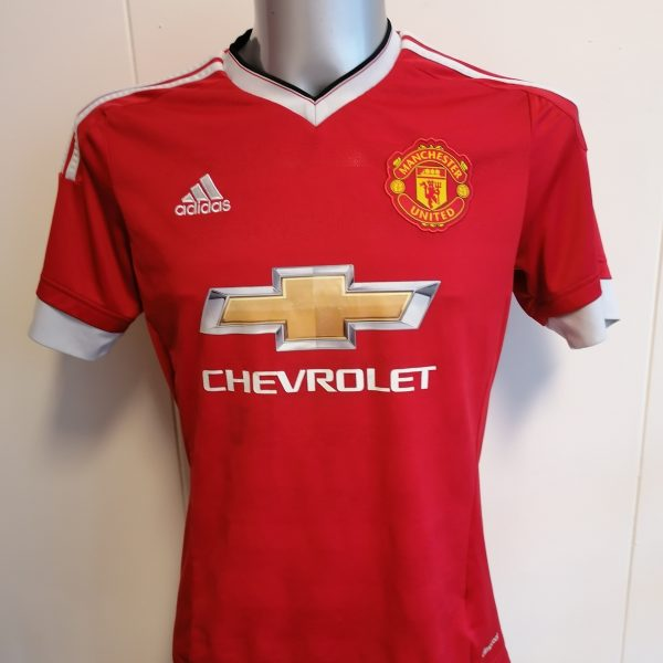 Manchester United 2015 2016 home shirt adidas football top size M (1)