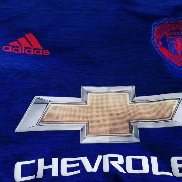 Manchester United 2016 2017 away shirt adidas football top size M (2)