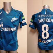 Match issue Zenit St Petersburg 2019 2020 home shirt Malcom 8 signed