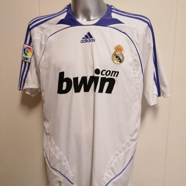 Real Madrid 2007 2008 LFP home football shirt adidas size XL (1)