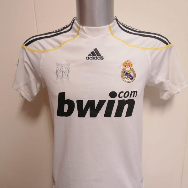 Real Madrid 2009 2010 LFP home football shirt adidas size Boys L 164cm 1314Y (1)
