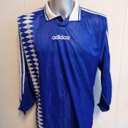 Vintage Adidas 1996 football shirt ls style Schalke France size XL 44-46 (2)