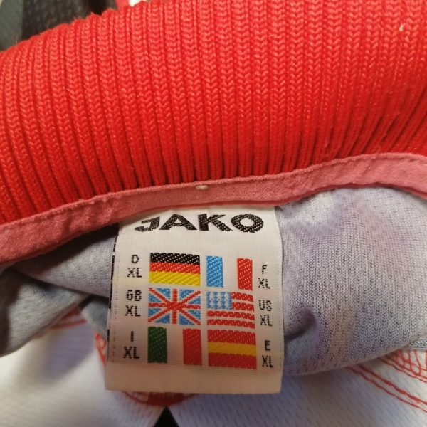 Vintage JAKO 1990ies red ls german amateur football shirt #14 size XL (1)