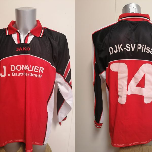 Vintage JAKO 1990ies red ls german amateur football shirt #14 size XL
