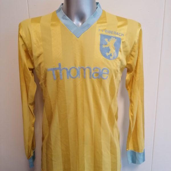 FV Biberag 1970ies Germany Amateur team shirt #5 size L football trikot vintage (1)