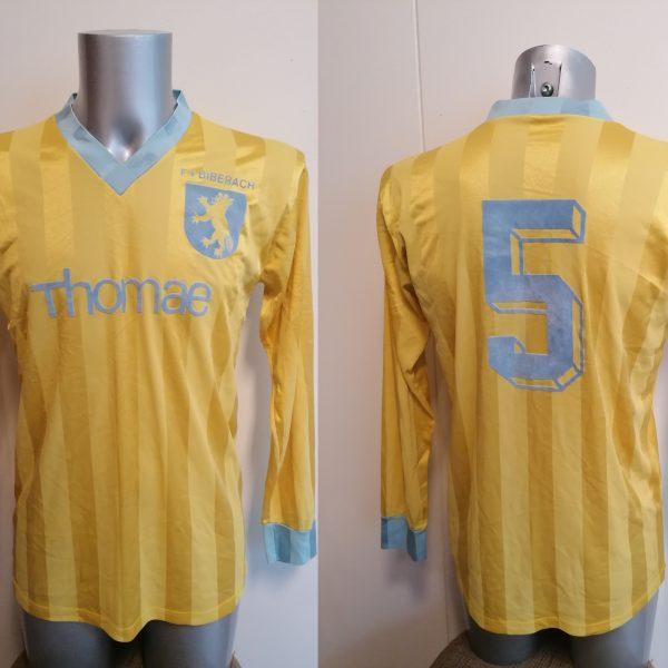 FV Biberag 1970ies Germany Amateur team shirt #5 size L football trikot vintage