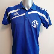 Schalke 04 2010 2011 blue training polo shirt adidas soccer jersey size S (1)
