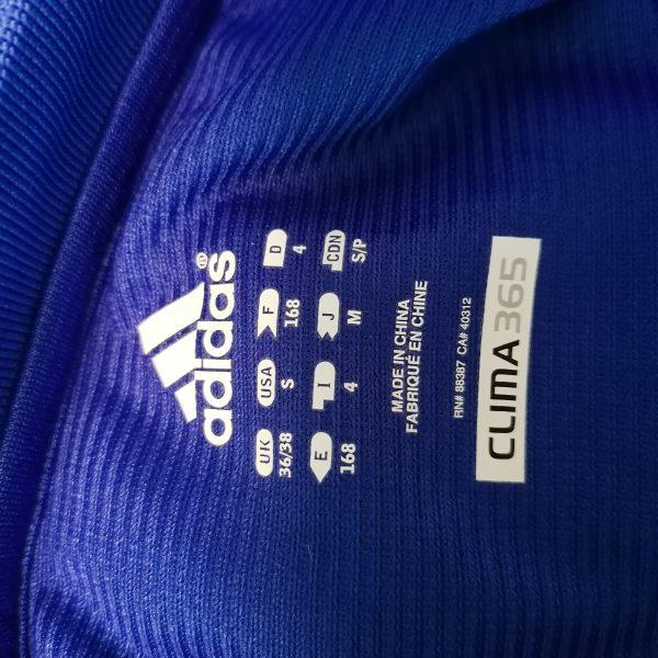 Schalke 04 2010 2011 blue training polo shirt adidas soccer jersey size S (2)