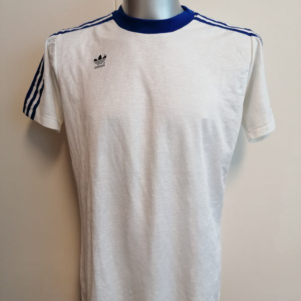 Vintage Adidas 1980ies white shirt size L D78 made in West-Germany (1)