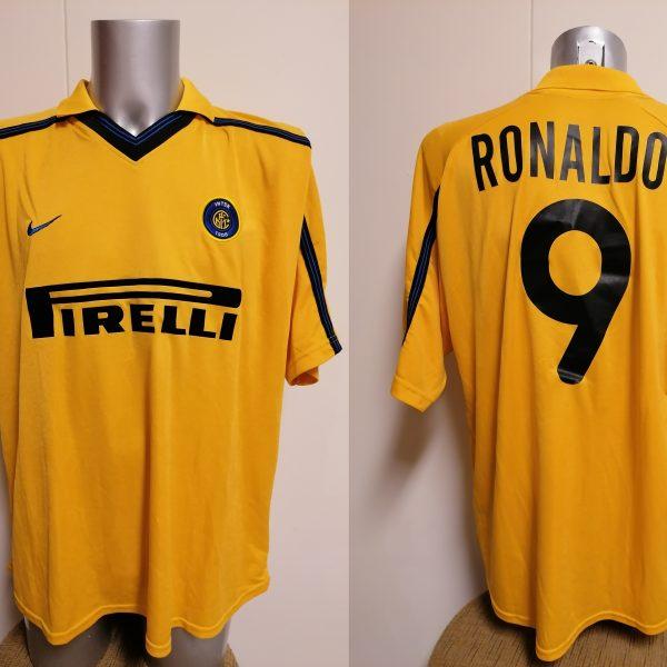 Vintage Inter Milan 1999 2000 third shirt Nike Internazionale Ronaldo 9 XL