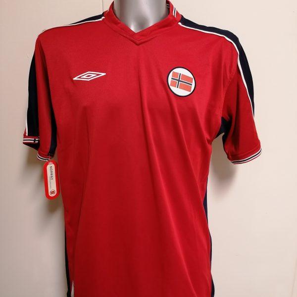 Vintage Norway 2003 2004 2005 reversible home away shirt Umbro L BNWT (1)