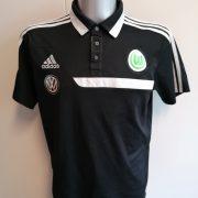 Vintage Vfl Wolfsburg 2013 2014 polo shirt adidas trikot size L (1)
