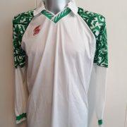 Vintage ABM 1980ies 1990ies ls white green football shirt #6 size XL (1)