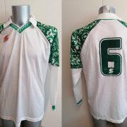 Vintage ABM 1980ies 1990ies ls white green football shirt #6 size XL