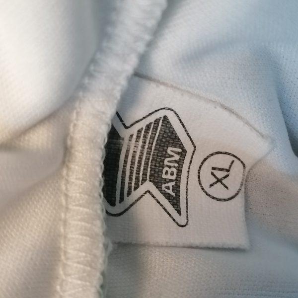 Vintage ABM 1980ies 1990ies ls white green football shirt #6 size XL (2)