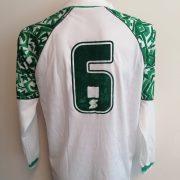 Vintage ABM 1980ies 1990ies ls white green football shirt #6 size XL (3)