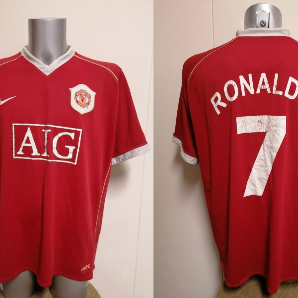Manchester United 2006 2007 home shirt Nike Ronaldo 7 jersey size XXL