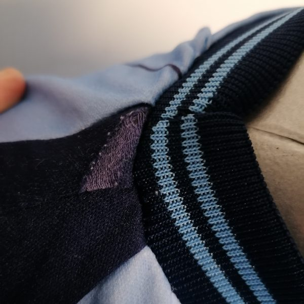 Vintage Le Coq Sportif 1980ies blue football shirt size Sv2 (4)