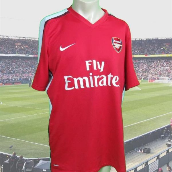 Arsenal 2008-10 home shirt Nike soccer jersey size L – Football ... d1bce32259525