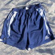 Adidas-navy-blue-sports-shorts-football-soccer-climalite-2004-model-size-M-202110414934
