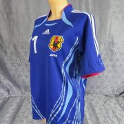Japan-2006-08-womens-home-shirt-size-S-Kaji-21-as-worn-at-World-Cup-2006-192335665504-2