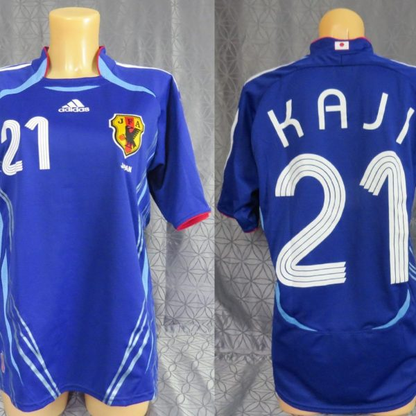 Japan-2006-08-womens-home-shirt-size-S-Kaji-21-as-worn-at-World-Cup-2006-192335665504