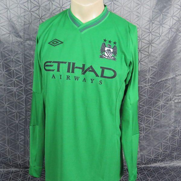 sports shoes c1f76 7a449 Match issue Manchester City 2012-13 L/S GK shirt green jersey Nielsen 37 +  COA