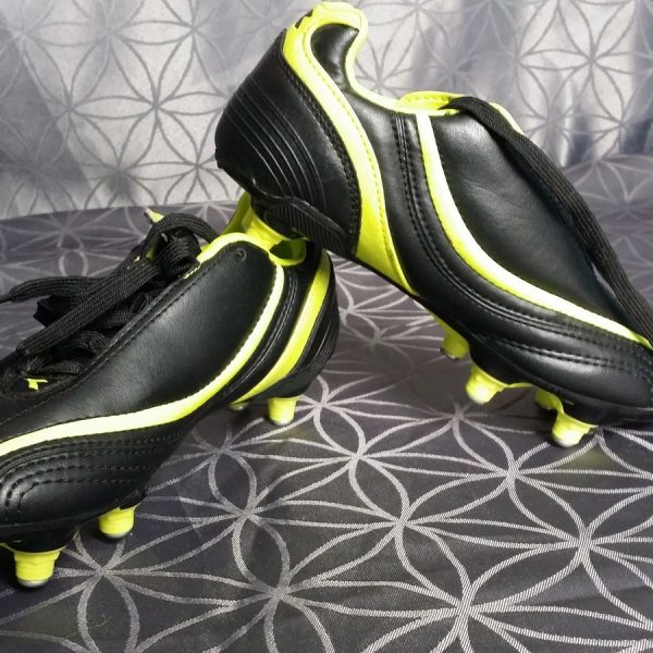 Diadora-SG-73-Black-Yellow-Soccer-Cleats-Football-Boots-size-UK-C12-EU31-US1-202100758758
