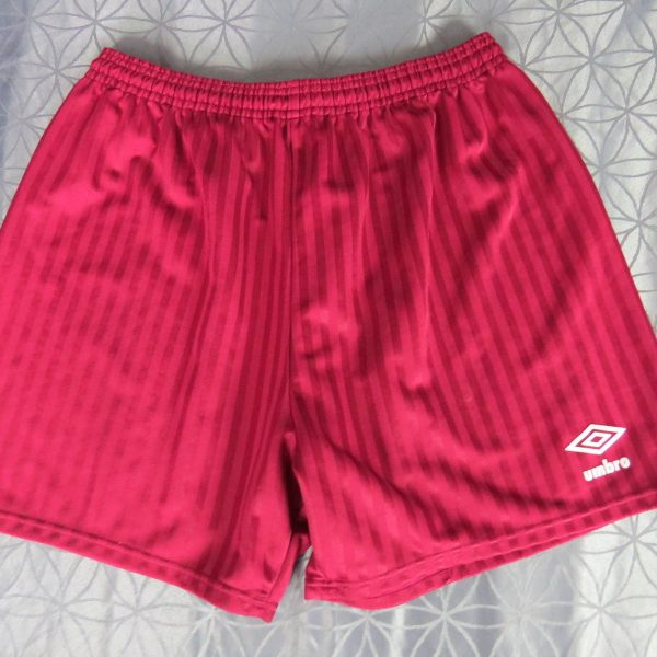 37705c6ab Red Umbro soccer football shorts mid 1990ies model size 38 ...